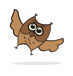 Cute Lttle Cartoon Owl vector image