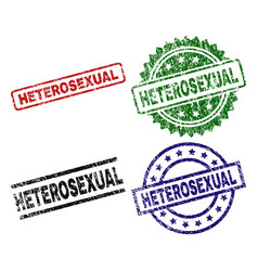 Damaged textured heterosexual seal stamps vector