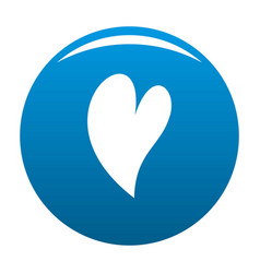 Deaf heart icon blue vector