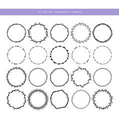 Decorative frames 20 set vector image