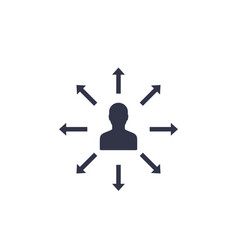 delegation management icon on white vector image