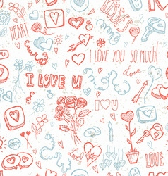 Doodles for Valentines day vector image
