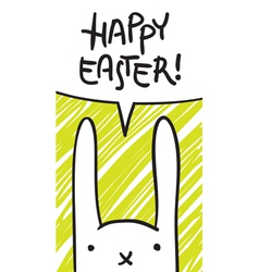 easter bunny speech bubble vector image