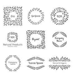 elements for emblem or label vector image