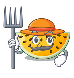 farmer fresh yellow watermelon on character vector image
