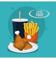 Fast Food design Menu icon Colorfull vector image