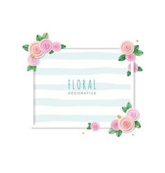 Floral decorative frame spring poster vector