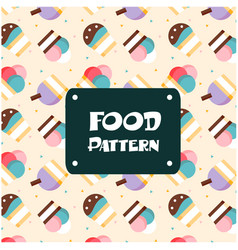 food pattern ice cream cup background image vector image