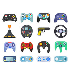game console vintage playing joystick gamer vector image