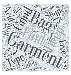 Garment bags word cloud concept vector