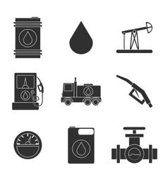 Gas trade icon set vector