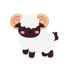 Goat farm animal cartoon background vector