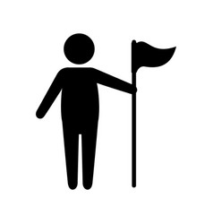 golf player with flag avatar character vector image