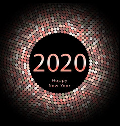 Happy new year 2020 dot background calendar vector