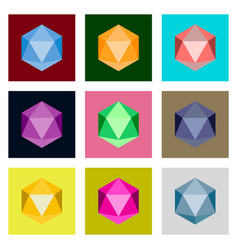 Icons set in flat style virus vector