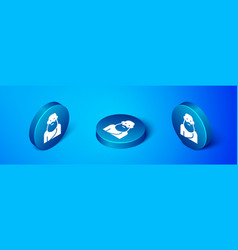 Isometric socrates icon isolated on blue vector
