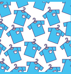 Laundry garments hanging pattern vector