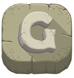 Letter g carved from stone vector