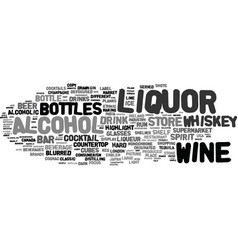 Liquor word cloud concept vector