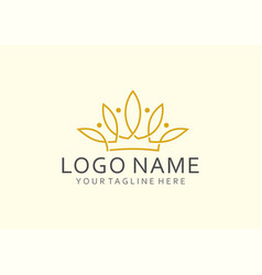 lotus crown vector image