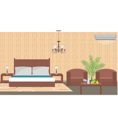 luxury hotel room interior east style with vector image