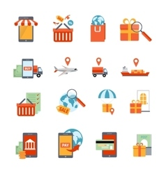 M-commerce Icons Set vector