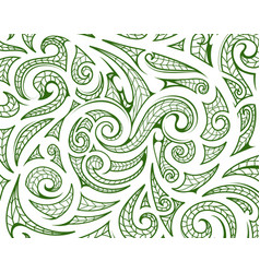 Maori style ornament as background layer vector