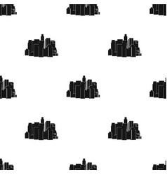 megalopolis icon in black style isolated on white vector image