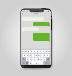 mobile phone social network messenger vector image