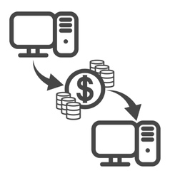 Money transfer icon vector
