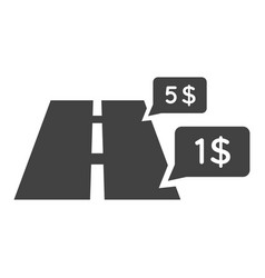 monochrome trip price icon vector image