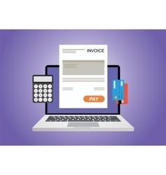 Online digital invoice vector