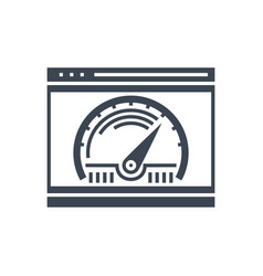 page speed glyph icon vector image