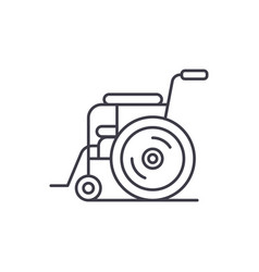 patient chair line icon concept patient chair vector image