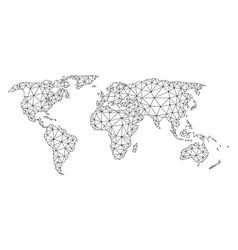 Polygonal carcass mesh map of world vector
