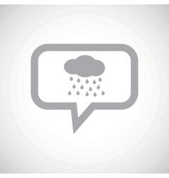 Rain grey message icon vector