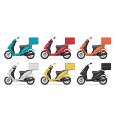 realistic scooters vector image