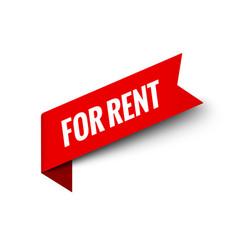 rent red sign tag label for rent banner symbol vector image