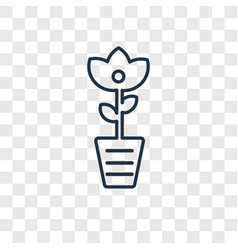 Rose cleanin concept linear icon isolated on vector