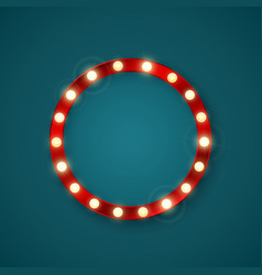 round retro banner with shining lights vector image