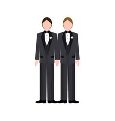 Same sex wedding vector