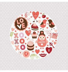 set valentines day elements vector image