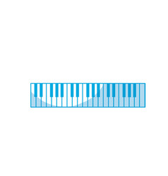 Silhouette piano keys musical instrument to play vector