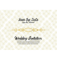 simple vintage wedding invitation vector image
