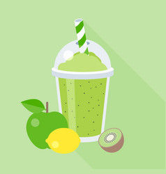 Smoothie with fruits vector