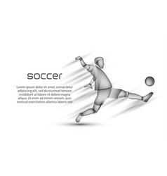 soccer player with ball in action vector image