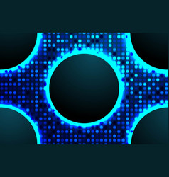 technological shine blue background vector image