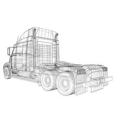 Truck oil trailer gasoline tanker created vector