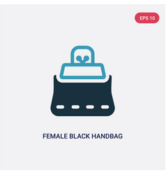 two color female black handbag icon from woman vector image