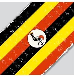Ugandan grunge flag vector